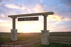 Barn Design Project designed by David Heaton - Ranch Entry Gate