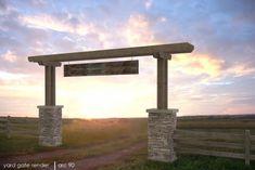 Barn Design Project designed by David Heaton - Ranch Entry Gate