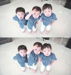 Beasty little monster 😍 Cute Kids, Cute Babies, Baby Kids, Baby Boy, Korean Babies, Asian Babies, Song Il Gook, Triplet Babies, Superman Kids