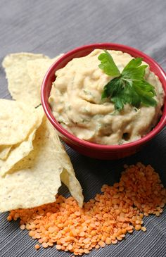 Red Lentil Nacho Dip (Gluten-Free, Vegan) | Strength and Sunshine @RebeccaGF666 Your favorite Mexican appetizer, now as a dip! A creamy Red Lentil Nacho Dip that's allergy-free, gluten-free, and vegan! A perfect recipe for parties or everyday snacking! Easy to make and delicious to eat!