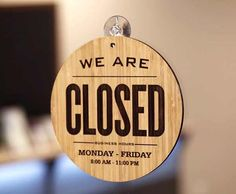 2 sided sign allows easy update of the Open or Closed status of your store or office. Closed Signs, Open Signs, Bar A Vin, Café Bar, Menu Restaurant, Restaurant Design, Open Close Sign, 3d Laser Printer, Book Cafe