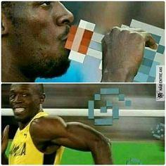 Why Usain Bolt runs so fast All Meme, Me Too Meme, Memes Roblox, Memes Minecraft, Dankest Memes, Jokes, Minecraft Creations, Video Game Memes, Clean Memes