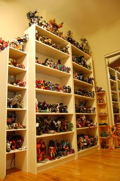 The Collection Display Shelves 2 and 3 Toy Display, Display Shelves, Display Case, Shelving, Comic Book Rooms, Gi Joe, Indian Bedroom Decor, Action Figure Display, Action Figures