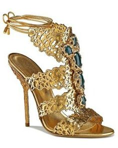 Golden anckle sandal