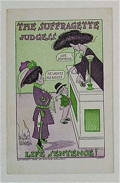 Very Rare Walter Wellman Suffragette Judges Postcard Price Anti Suffrage, Anti Feminist, I Want Him, Old Postcards, Women In History, New Books, Suffragettes, Judges, Folk