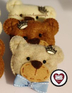 Party Favor Girl Bear /  Lembrancinha de Bebê Menino Urso.