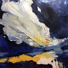 August 2017 Newsletter - Artist Samantha Williams-Chapelsky 2017 Events, Abstract Landscape, New Work, Clouds, Fall, Artwork, Artist, Painting, Autumn