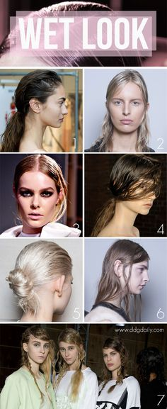 Moisture hit: A DDG Moodboard full of wet look hair   | moodboards hair styles beauty 2 feature beauty trends 2 beauty 2  picture