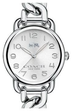 COACH 'Delancey' Round Chain Bracelet Watch, 28mm available at #Nordstrom