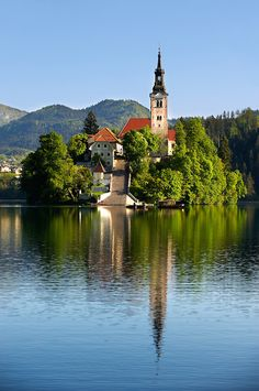 Assumption of Mary Pilgrimage Church, Lake Bled, Slovenia