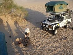 One day ..... From Holland to South Africa with a land Rover .... How incredible cool would that be!!! Land Rover Defender 110 (with roof tent safari expedition)