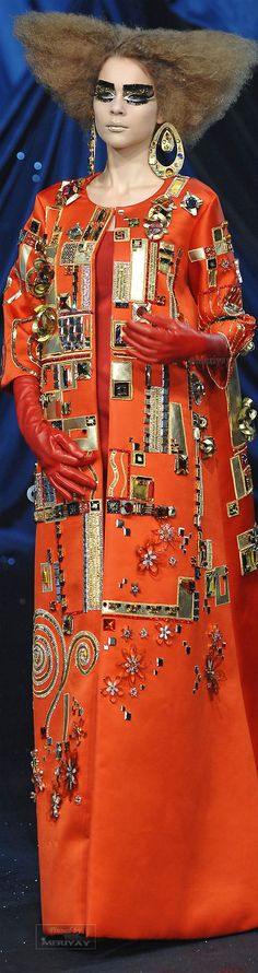 Christian Dior Haute Couture Spring 2008, inspired by Austrian painter Gustav Klimt