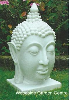 Enigma White Tai Buddha Head Home Or Garden Ornament | Woodside Garden  Centre | Pots To