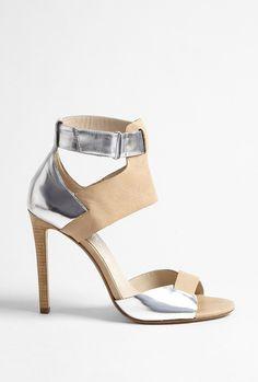 f5cf7e457a50 Women s Metallic Nude Atherton Leather Ankle Strap Sandal. Lyst