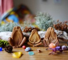 At t first glance, the work of Jan Campbell looks like it could be carved out of wood. But what you're seeing is not lumber… it's an avocado pit that the artisan has transformed into handheld totems and pendants. Her handiwork boasts fantastical figurines and guardians of the forest that are created with an impressive attention to intricate detail.