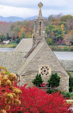 Memorial Chapel at Lake Junaluska in the North Carolina mountains