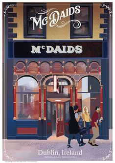 McDaids - Pubs of Ireland - Ireland Posters. Medan, Pub Signs, Paper Artist, Rest Of The World, Travel Posters, Irish, Poster Prints, City, Dublin Ireland