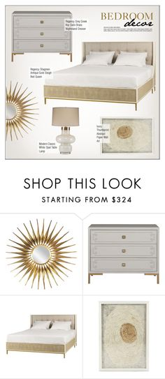 """""""Bedroom Decor"""" by kathykuohome ❤ liked on Polyvore featuring interior, interiors, interior design, home, home decor, interior decorating, bedroom, modern, Home and bedroomdecor"""