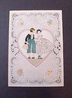 Sweet Vintage Valentine Card with Darling by Moonmaidenemporium