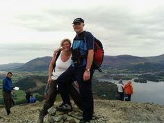 Top of Catbells in Keswick with my sister - Sept 2007 Cumbria, My Sister, Four Square, Sisters, Spaces, Couple Photos, Fun, Travel, Viajes