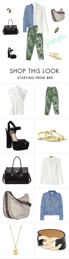 """Jungle"" by stefania-mammarella-gandini ❤ liked on Polyvore featuring Lanvin, Les Prairies de Paris, Steve Madden, Patrizia Pepe, Sole Society, Theory, Borbonese, Acne Studios, Aurélie Bidermann and Michael Kors"