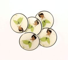 5 SHANK style Princess Sewing Buttons. Handmade by buttonsbyrobin, $11.99