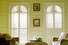 Lafayette Interiors Fashions is an industry leader in decorative window shutter manufacturing including quality plantation shutters, wood shutters, and more. Traditional Window Treatments, Rustic Window Treatments, Traditional Windows, Window Treatments Living Room, Living Room Windows, Custom Shutters, Wood Shutters, Window Shutters, Interior Design Work
