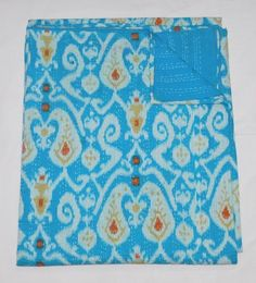 bed cover,sofa throw Kantha Quilt Indian Cotton Bedspread Blanket Bedding gardern decor