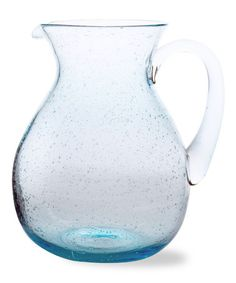 Look what I found on #zulily! Blue Bubble Glass Pitcher #zulilyfinds