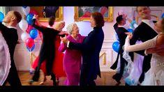 André Rieu waltzing with 'Queen Elizabeth II'
