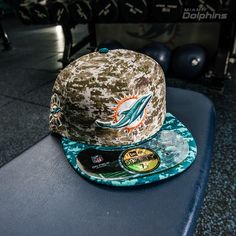 sneakers for cheap d2abf 514be New Era Camo Miami Dolphins Salute To Service On Field 59FIFTY Fitted Hat  Philadelphia Sports,