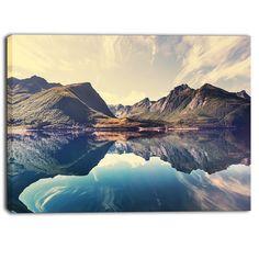 DESIGN ART Designart - Norway Summer Mountains - Landscape Photo Print