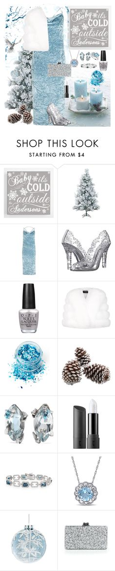 """""""Baby it's cold outside❄"""" by hubunch ❤ liked on Polyvore featuring Fraser Hill Farms, Topshop, Dolce&Gabbana, OPI, Harrods, In Your Dreams, Alexis Bittar, Bite, Glitzy Rocks and GlucksteinHome"""