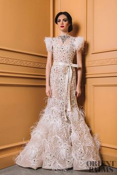 Ali Al Khechen Spring-summer 2018 - Couture Bridal Outfits, Bridal Dresses, Wedding Gowns, Different Wedding Dresses, Asian Wedding Dress, Feather Dress, Types Of Dresses, Mermaid Dresses, Beautiful Gowns