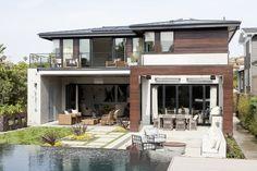 Uma casa de praia moderna (Foto: David Gilbert / Divulgação)