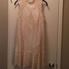 Free people cream lace dress Only worn once. Perfect condition! This is my favorite dress of all time- hoping to sell it to someone who will love it as much as I did! Free People Dresses