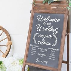 Buy Wedding Party List Sign Wall Decal from Dana Decals. Romantic Wedding Receptions, Wedding Vows, Romantic Weddings, Wedding Signs, Destination Wedding, Wedding Planning, Event Planning, Wedding Venues, Wedding Party List