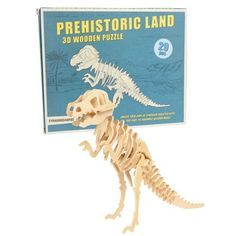 Make your very own T-Rex! This 3D wooden puzzle contains 29 wooden pieces and instructions!...