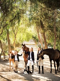 The Buckinghams ride together at Elvenstar, an equestrian training facility in Moorpark.