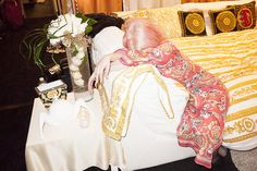 Lady Gaga in her dressing room after the show.