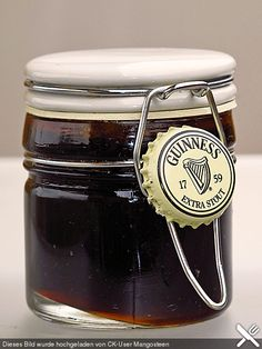Biergelee:  Beer Jelly 3/4 Ltr. beer, 1 Tbsp. Vanilla, .....from Chef Koch