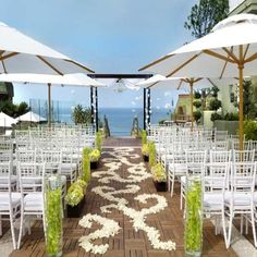 Beach Wedding Reception Decoration Ideas>>> even though this is beach, i like the umbrellas. For a pre summer wedding outside on the mansion's lawn umbrellas or canopies to shade the guests is ideal!