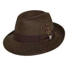 0148f00b5cd75 Stacy Adams Summer Fedora - Chocolate