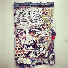 #VHILS, croûte d'affiches sculpture Street Art, Sculpture, Cool Stuff, Portrait, My Love, Artist, Fed Up, Posters, Graphic Design