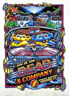 Dead & Company Hartford, CT #deadandcompany   got this very poster at the show numbered an signed,,,,,, great show