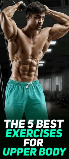 While deadlifts, bench presses and pull-ups are great exercises to develop your upper body, there are a few underdog exercises that you probably don't see being done as often (if at all) in the gym that help deliver as good if not better results! Check out The 5 Best Exercises for Upper Body! #fitness #gym #exercise #workout #muscle #bodybuilding #fit #fitfam