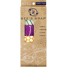 """Enter code """"dosomething"""" to get 15% off at EarthHero.com for this Reusable Beeswax Wrap Variety Pack 