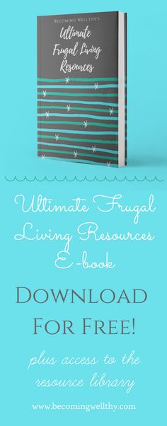 Looking to start a frugal life? Check out this free e-book full of frugal living resources. Click through and also get free access to many more frugal resources!