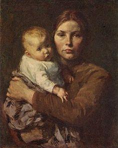 Mother and Child, Gari Melchers, 1860.