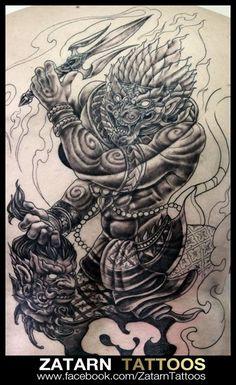 Thailand Tattoo, Samurai Tattoo, Thai Style, Dragon Ball, Oriental, Tattoo Designs, Asian, Tattoos, School